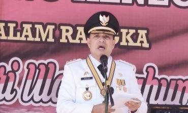 Jadi Inspektur Upacara, Bupati Batubara 'Kepleset' Sebut Usia RI